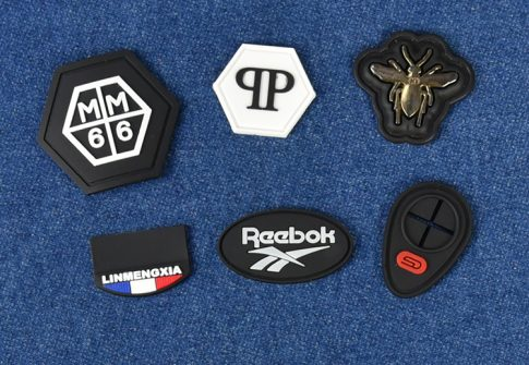 Garment accessories embossed clothing soft 2d 3d silicone custom logo cap hat tactica
