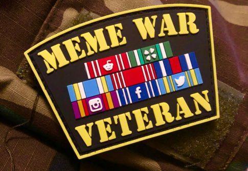 Meme War Veteran PVC patch